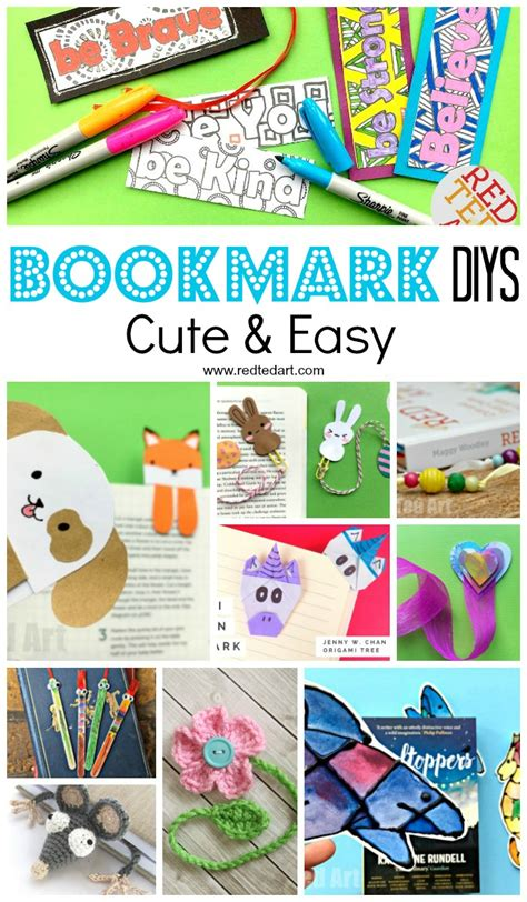Creative DIY Bookmark Ideas - Red Ted Art's Blog