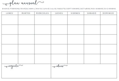 Creative Mindly: ORGANIZADORES SEMANALES y mensuales POR ...