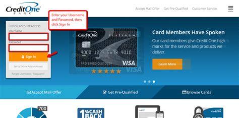 Credit One Bank Online Banking Login - CC Bank