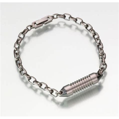 Cremation Jewelry-Titanium Urn Bracelet for Ashes