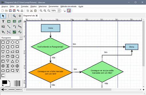 Crie diagramas com o Dia Diagram Editor