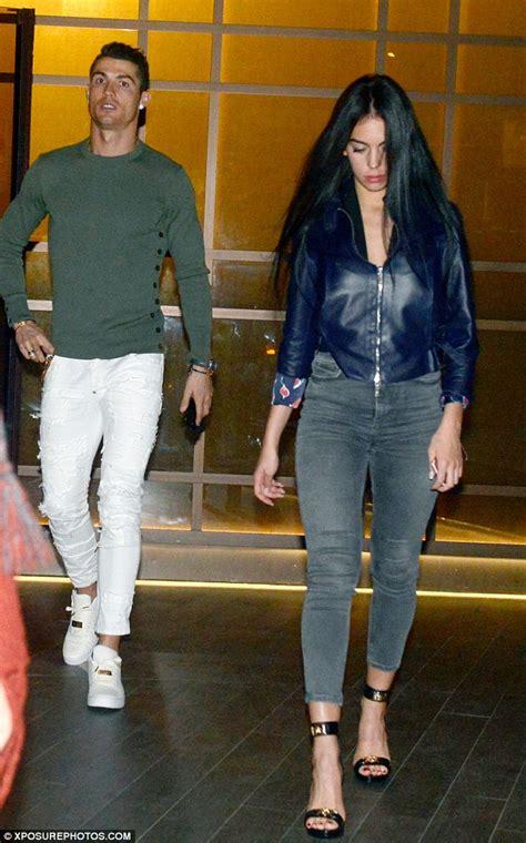 Cristiano Ronaldo and Georgina Rodriguez enjoy dinner date ...