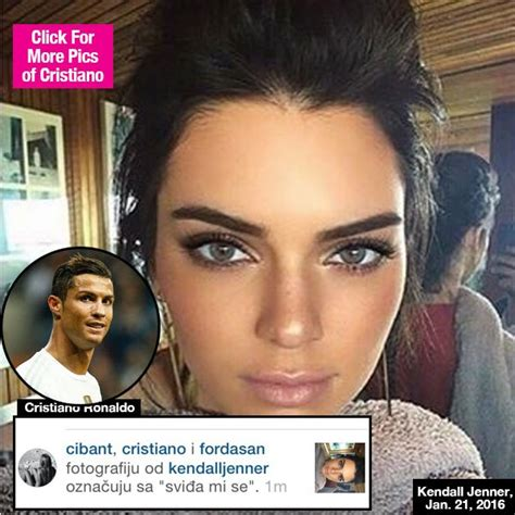 Cristiano Ronaldo flirts with Kendall Jenner on Instagram ...