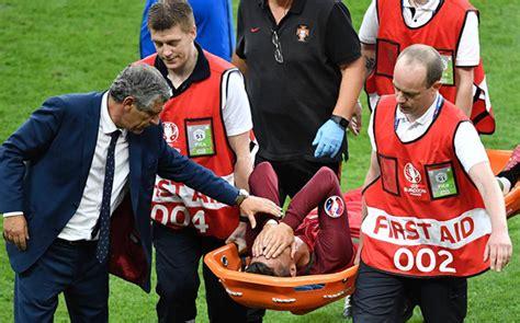Cristiano Ronaldo se retira lesionado entre lágrimas