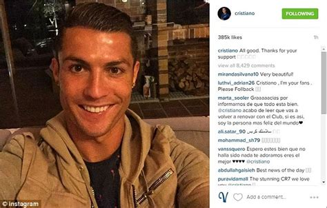 Cristiano Ronaldo takes to Instagram to reassure Real ...