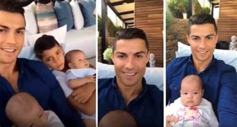 Cristiano Ronaldo y el primer video con sus mellizos