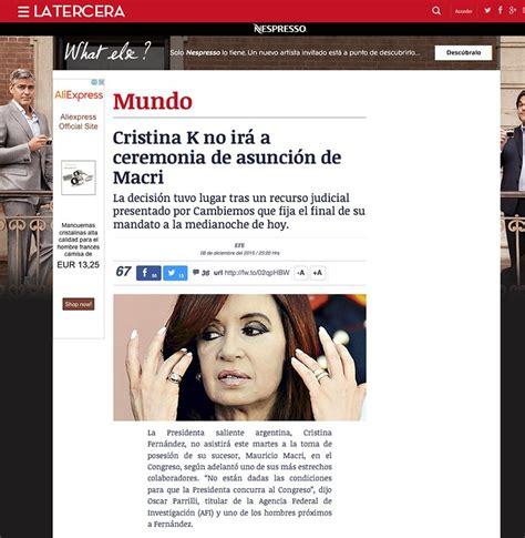Cristina Kirchner y las repercusiones en el mundo   Taringa!