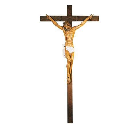 Cristo Crucificado talla de madera de abedul | Cristos ...
