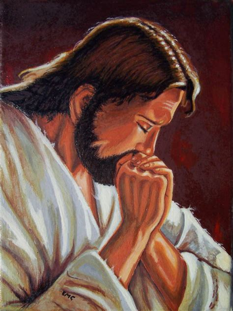 Cristo orando Emanuel Cardozo - Artelista.com