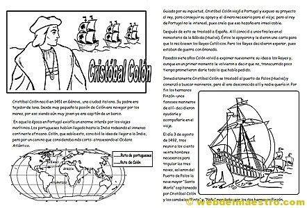 Cristóbal Colón para niños   Historia   Pinterest   Web ...