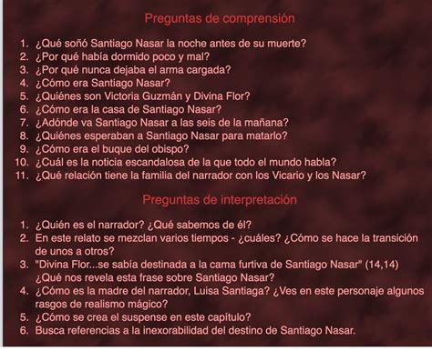 Crónica de una muerte anunciada (Texto) | LENGUA Y ...
