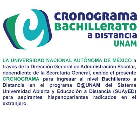 Cronograma Bachillerato a Distancia 2015   UNAM