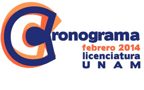 Cronograma Febrero 2014   UNAM