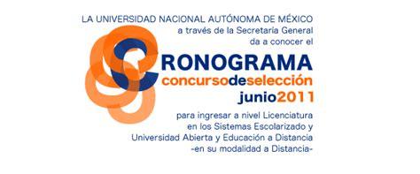 Cronograma Junio 2011   UNAM