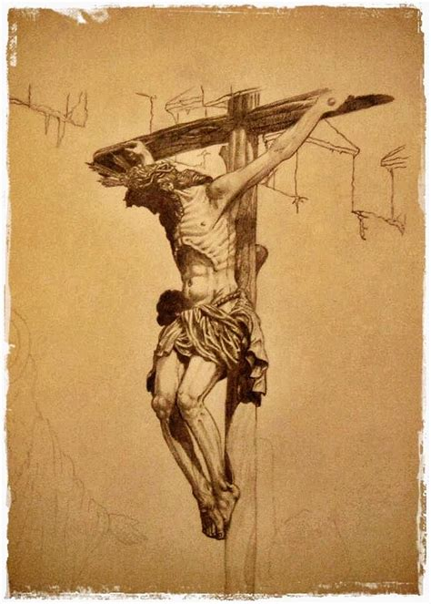 Crucifixion Of Christ Drawing by Jesus Catalan