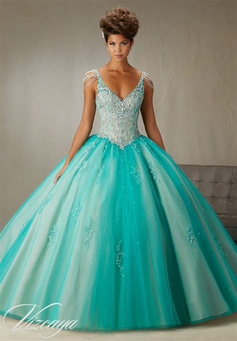 Crystal Sleeves Quinceanera Dress | Style 89065 | Morilee
