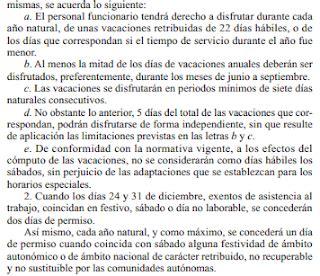 CSIF Autonómicas GVA: Calendario laboral 2019