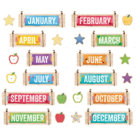 CTP UPCYCLE STYLE Months of the Year Calendar 24 Pc ...