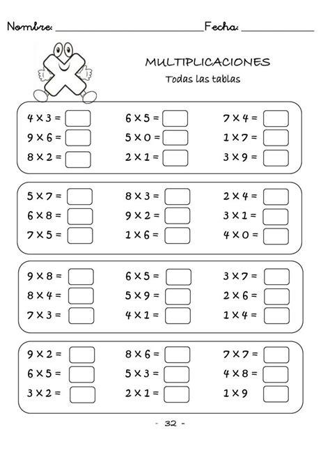 Cuaderno de multiplicaciones rápidas para primaria ...