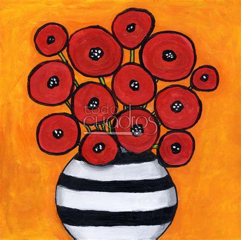 Cuadro de flores para niños, arte infantil para decoración.