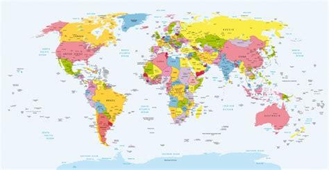 Cuadro Mapa Mundi Politico | 100% a Medida