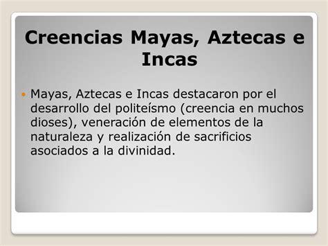 Cuadros comparativos sobre Incas, Mayas, y Aztecas ...