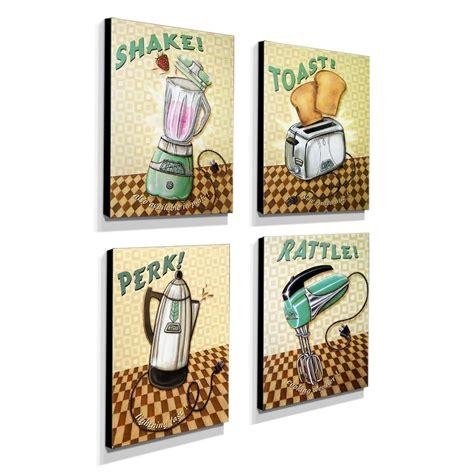 Cuadros Decorativos Para Cocina Vintage 18x23  4pz ...