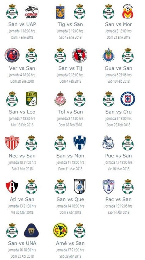 ¿Cuál será el calendario de Santos en el Clausura 2018?