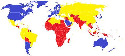 Cuales son los paises del primero, segundo y tercer mundo ...
