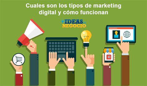 Cuales son los tipos de marketing digital y cómo funcionan