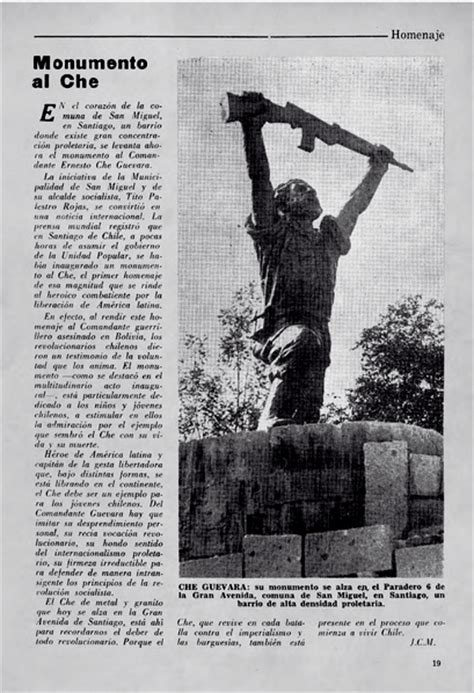 Cuando la dictadura desapareció el primer monumento al Che ...