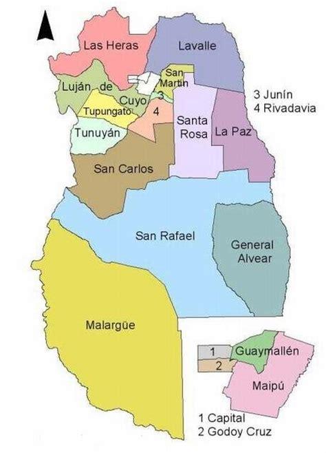 ¿Cuántos departamentos tiene la provincia de Mendoza ...