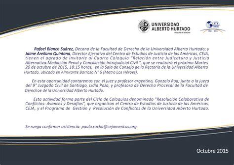 Cuarto Coloquio CEJA-UAH - Facultad de Derecho - Facultad ...