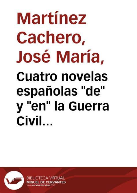 Cuatro novelas españolas