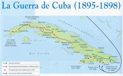 Cuba - Mapa De La Guerra