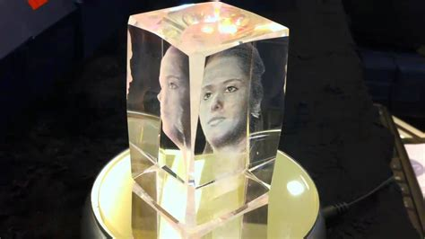 Cubo de Cristal com Fotografia 3d   YouTube