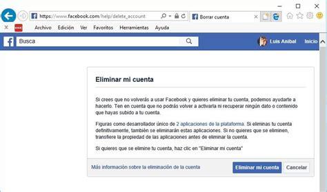 Cuenta de Facebook: Pasos para eliminarla definitivamente ...