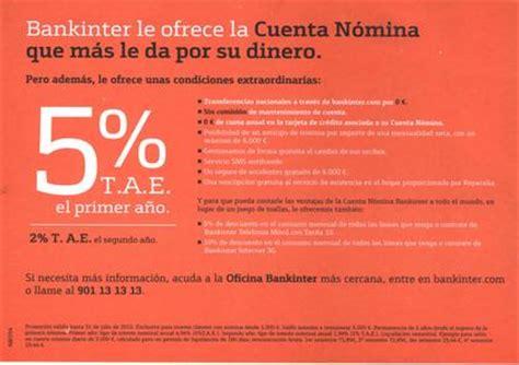 Cuenta Nómina Bankinter al 5% - Rankia