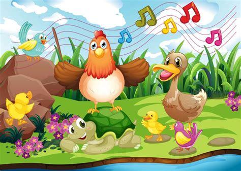 Cuento musical para niños de  La granja  con onomatopeyas