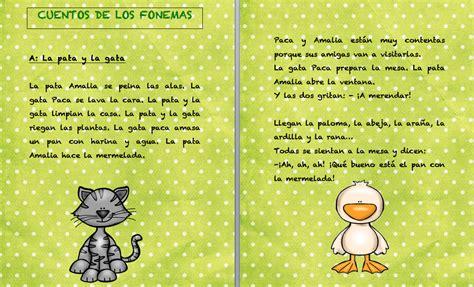 Cuentos fonemas letra a La pata y la gata  Orientacion Andujar
