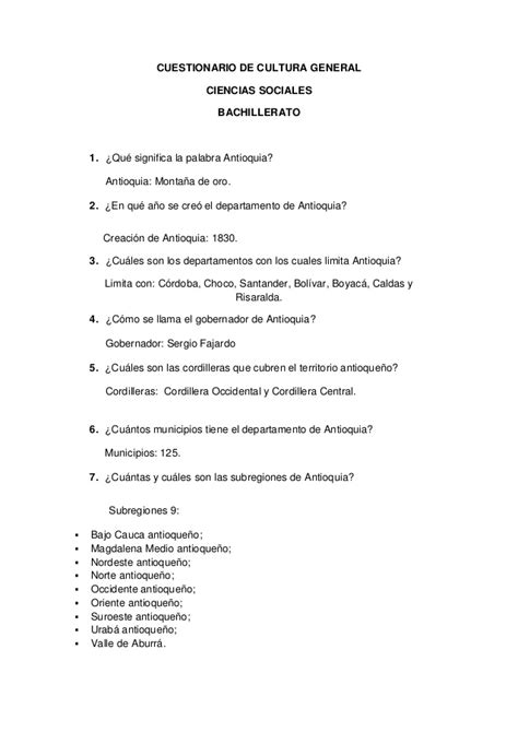 Cultura general (Colombia)