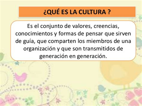 Cultura organizacional ppt