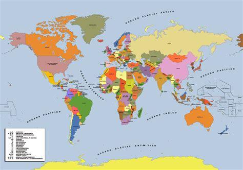 culturambo: Mapamundi político