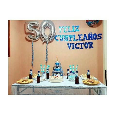 Cumpleaños 50 hombre pequeña decoración para un compartir ...