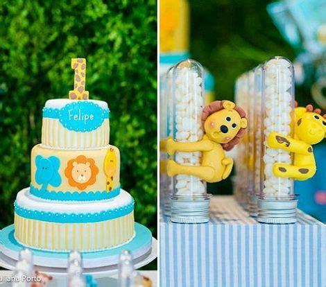 cumpleaños de 1 año en el zoo para niños   decoraciones ...