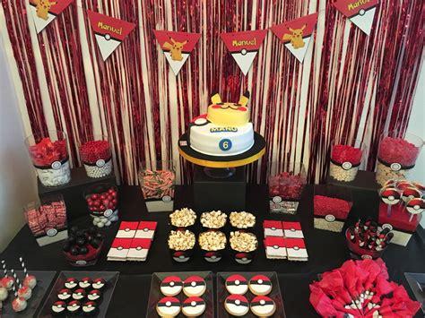Cumpleaños de Pokémon | Decoración cumpleaños Inspiración ...