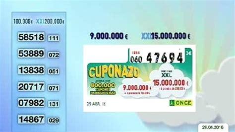 Cuponazo ONCE: números premiados del viernes 29 de abril ...