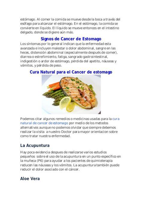 CURA NATURISTA DEL CANCER DE ESTOMAGO