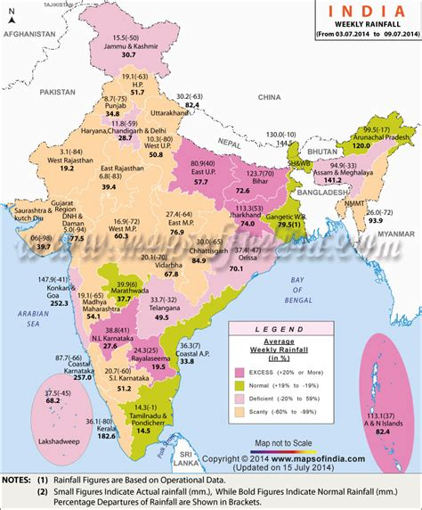 Current Rain Status, India Weekly Rainfall Report | Map in ...