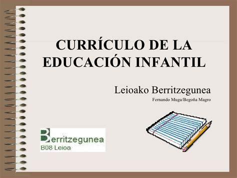 CURRICULO INFANTIL 12/2009 20 ENERO